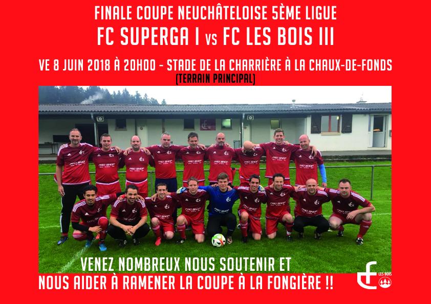 Le FC Les Bois 3 en finale de la coupe neuchâteloise !